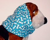 RESERVED for puli - Dog Snood - Bones Sing the Blues - Size XL