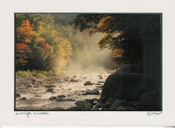 358 5x7 Matted Art Swift River New Hampshire     Signed    - 358