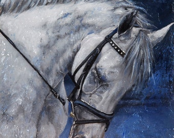 Custom Pet Portrait - Horse Painting from your Photo - Portraits by NC