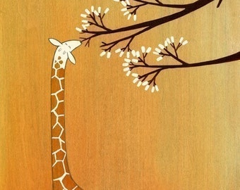 Giraffes, Too, Like Marshmallows - Signed Art Print