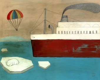 Save the Polar Bear - Signed Art Print