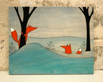 Mr. and Mrs. Fox - Mounted Print