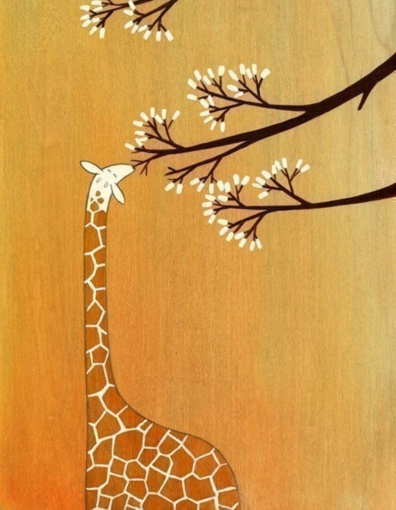 Giraffes, Too, Like Marshmallows - Signed Art Print