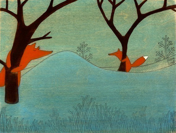 Where Are You Fox - Signed Art Print