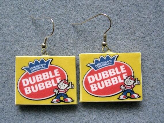 Dubble Bubble Polymer Clay Junk Food Gum Candy Earrings