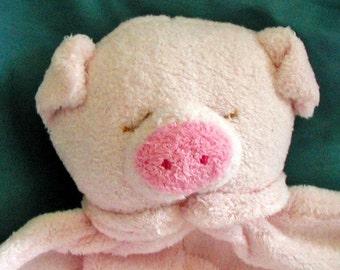 Piggy Baby Blankie/Monogrammed Lovie/Angel Dear/Personalized Blankie/Security Blanket/Baby Blankie Gift/Animal Blankie