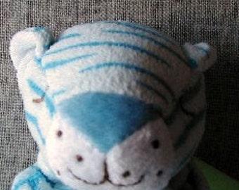 Blue Tiger Baby Blankie/Monogrammed Lovie/Angel Dear/Personalized Blankie/Security Blanket/Baby Blankie Gift/Animal Blankie