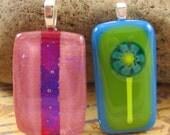 Twofer Sale - Fused Glass Pendants