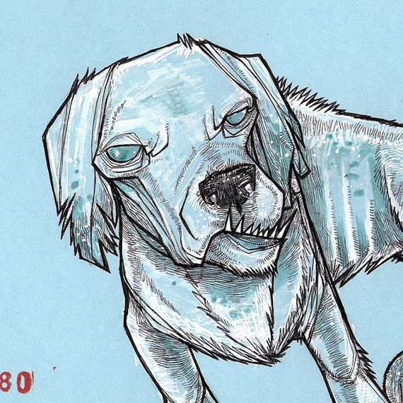 Zombie dog drawing