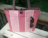 Coral and Pink Large Tote