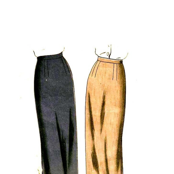 40s Slim Pencil Skirt vintage pattern 34-26-35 vogue