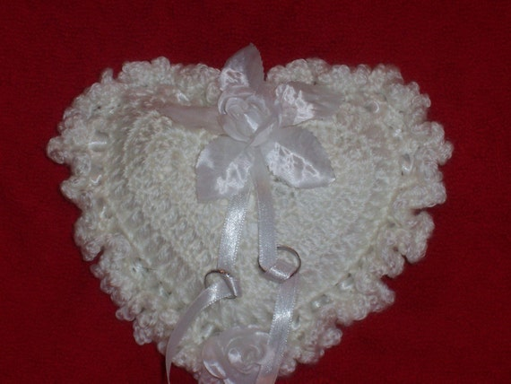 Crochet Ring Bearer Pillow