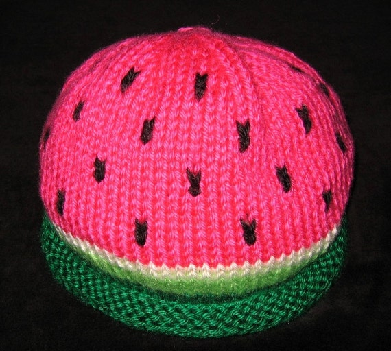 Knit Baby Toddler Watermelon Hat