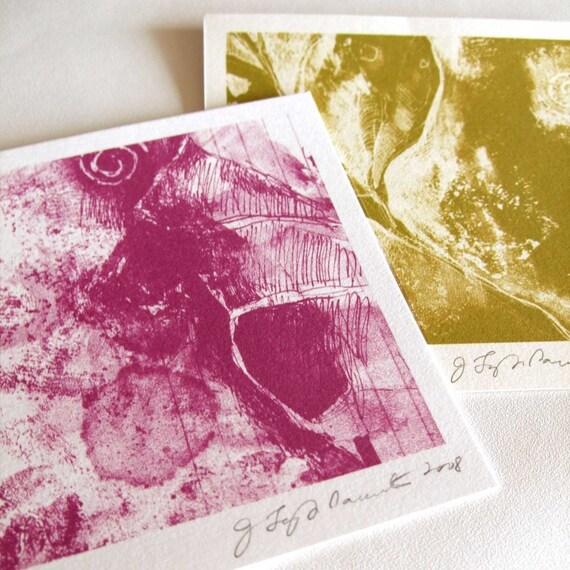 Leaves \/ 2 Mini Prints
