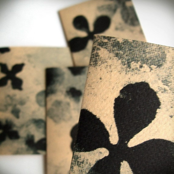 Blank Floral Notecards Set of 4
