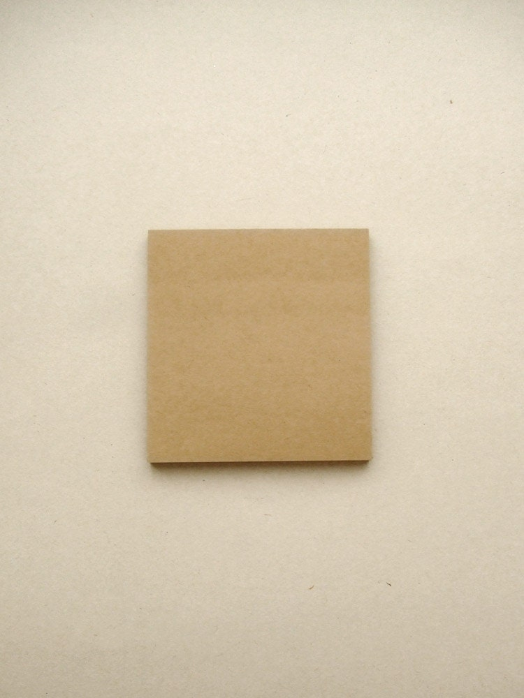Kraft paper sticky notes for Sticky paper for crafts