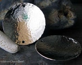AGB artisan jewelry findings sterling silver 32mm discs large textured and domed Halia 2 pieces
