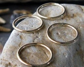 Quality 14k gold filled handmade smooth closed rings. Artisan 16 gauge jewelry findings. Components.  AGB Eleos 15mm 4 pieces.