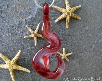 AGB boro glass lampwork pendant, If It Ain't Me...