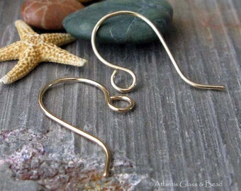 AGB artisan jewelry findings handmade gold filled ear wires Zorongo 5 pairs