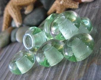 AGB Kryptonite boro glass lampwork, small beads..