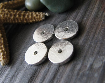 AGB artisan jewelery findings handmade sterling silver small 6mm bead caps Thoosa 2 pieces