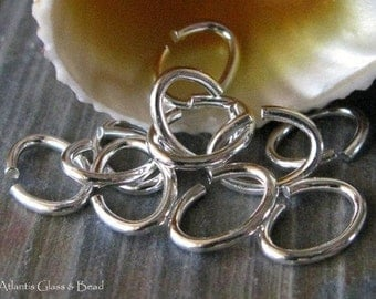 AGB sterling silver, oxidized sterling silver or 14k gold filled oval jump rings jewelry findings 18 gauge 8mm x 6mm 25 pieces
