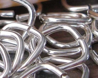 AGB Handmade jewelry findings sterling silver 16 gauge Square jump rings 10mm 10 pieces