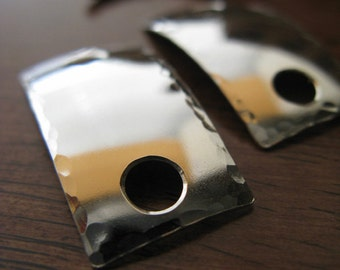 AGB artisan copper, sterling silver or 14k gold filled jewelry findings large hole rectangle connectors Charon 2 Pieces