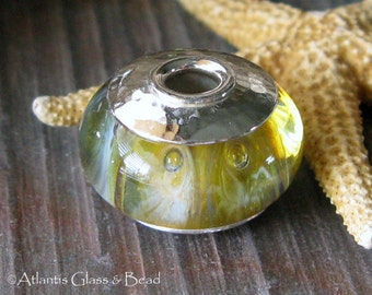 AGB boro glass lampwork bead, Living Pictures...