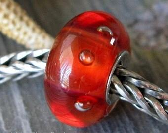 AGB boro glass lampwork beads, Pomegranate Cherry...