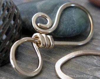 AGB artisan jewelry findings gold filled large hook clasp handmade Sardana 1 set