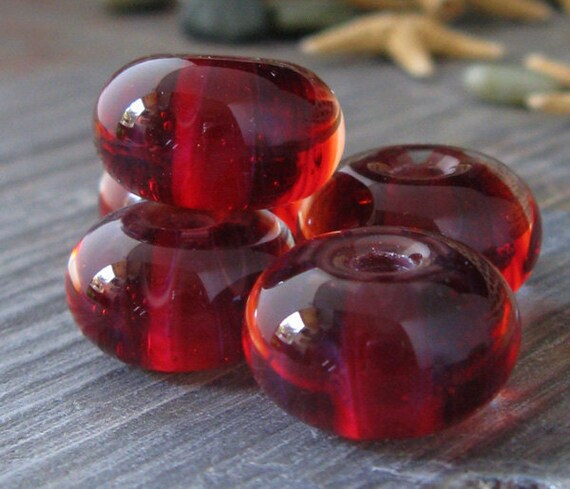 AGB boro glass lampwork beads, On the Bottom....