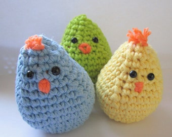 Easter Egg Chicks Trio Also available in pink