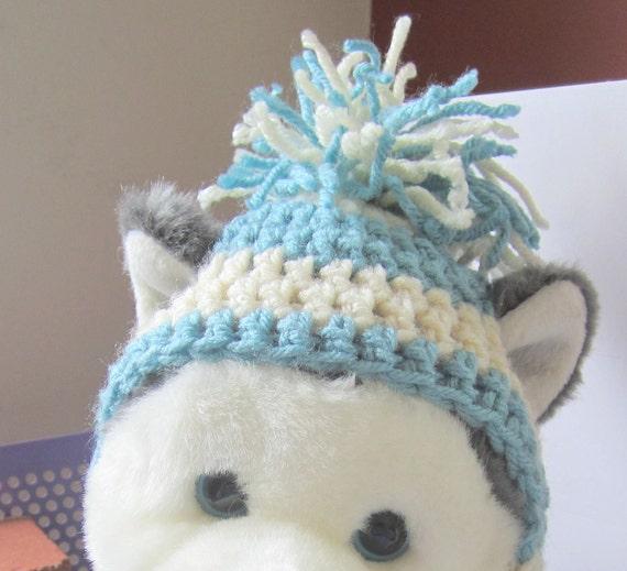 Crochet Dog Earflap Hat Pattern : Crochet earflap dog hat