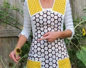 Little Miss Sunshine Apron -   Vintage Everyday Housewife Apron - small to medium