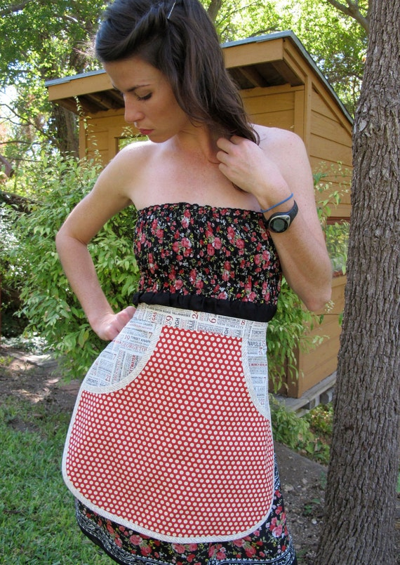 Hometowns and Polka Dots - Eco Chic Everyday Housewife Apron