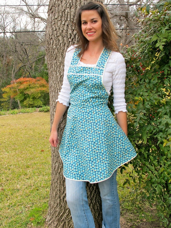 Blue Chestnuts Apron - Flirty Everyday Housewife Apron