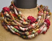 Frolic Whirlspun Necklace - stylish wearable or handspun yarn