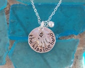 Stamped Sterling Silver Kissing Hand Necklace for Children (or Moms!)