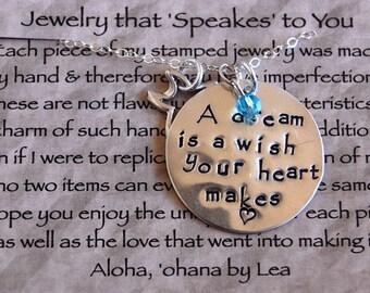 Sterling Silver Cinderella Charm Necklace
