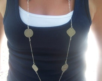 Long Tropical Coin Necklace