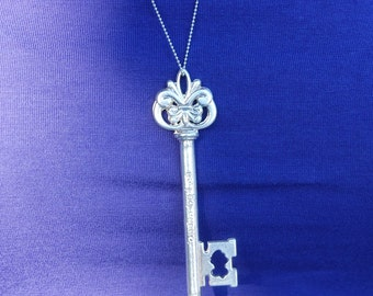 Large Sterling Key Necklace