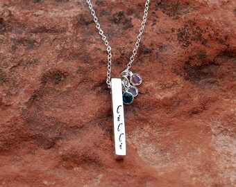 Custom Sterling Bar Tag Necklace