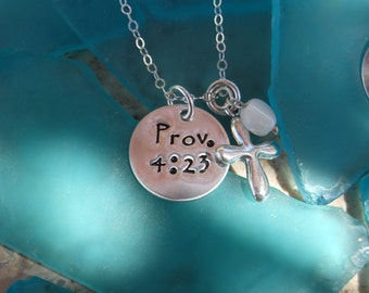 Hand Stamped Scripture Necklace