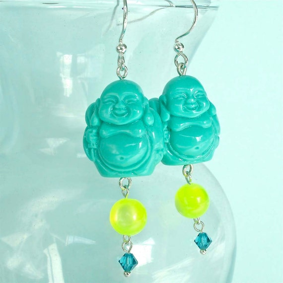 Tealalicious Happy Traveling Buddha Bead Earrings