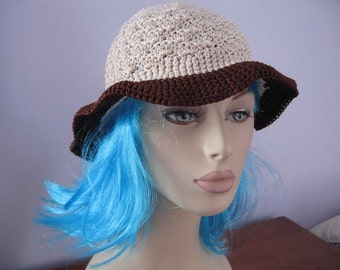 Natural/Brown Lilly Hat - Adult Medium