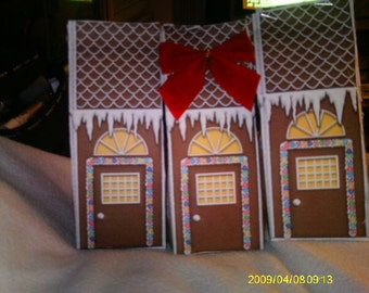 Gingerbread  box favors