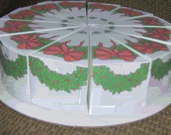 Christmas cake box favors