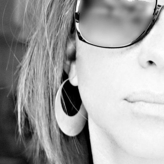 Sterling Silver Hoops - Hoop Earrings - Round Large Hoops